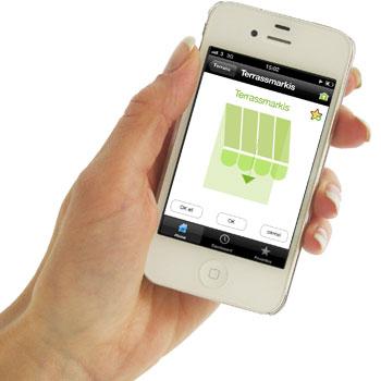 iPhone med TaHoma app